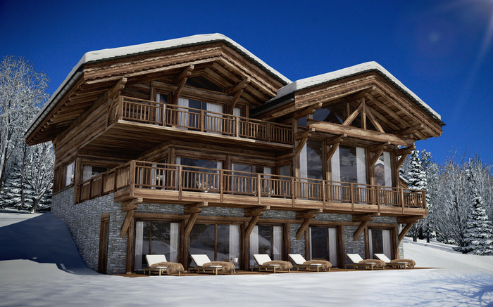 Exclusivit splendide chalet de standing ventes - Incroyable maison monolithique en suisse ...
