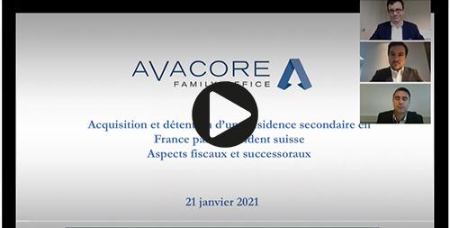 Visionnez le replay du webinaire Avacore