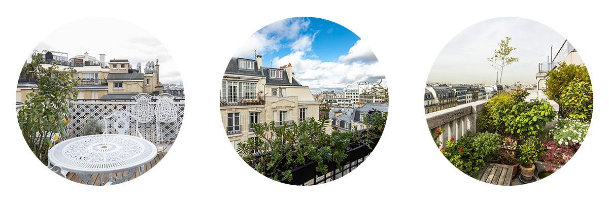Terrasses et balcons Paris 16