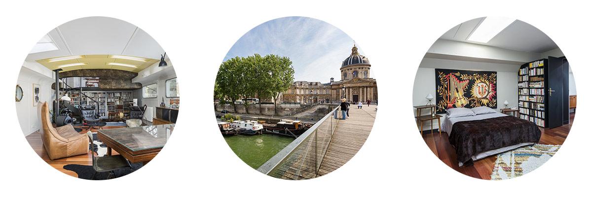 Péniche avec vue sur Louvre - Propriété de prestige à la vente à Paris