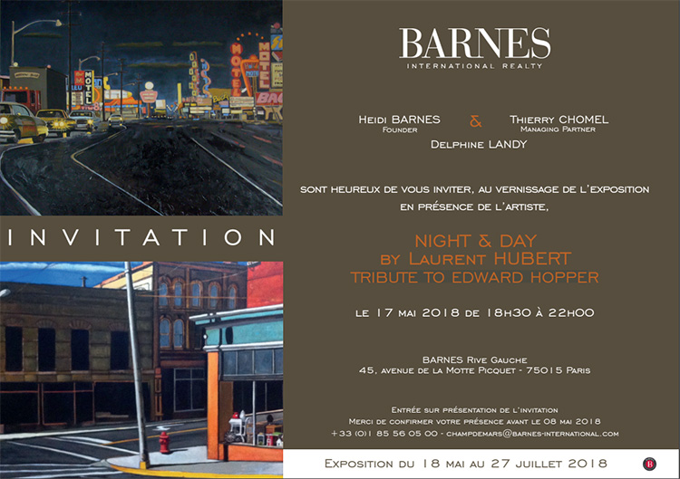 Invitation Vernissage NIGHT & DAY by Laurent HUBERT